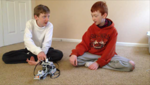 Picture of boys doing Mindstorms blog